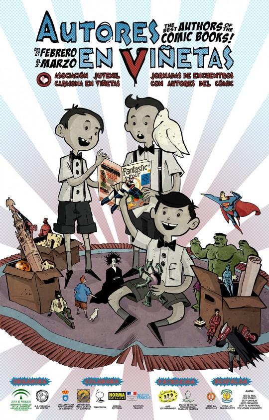 Cartel V Autores en Viñetas 2014 INT