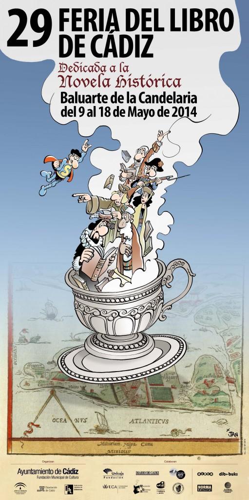 Cartel Feria del Libro de Cadiz 2014 - baja resolucion