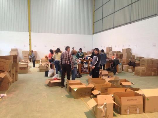 Voluntaria@s trabajando