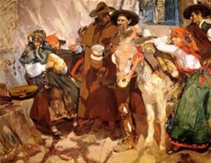 Aldeanos leoneses. Sorolla. 1906
