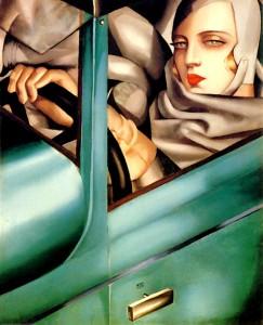 Autorretrato en el bugatti verde. 1925