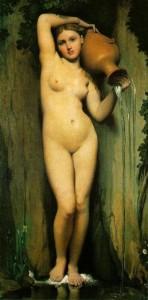 El manantial. Ingres. 1856