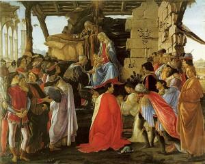 La adoración de los magos. Botticelli. 1475