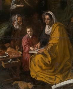 La educación de la Virgen. Atribuido a Velázquez