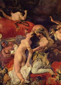 La muerte de Sardanápalo. Delacroix. 1827