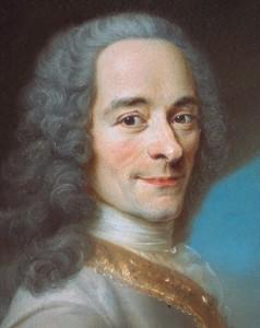 Voltaire, détail du visage (château de Ferney)