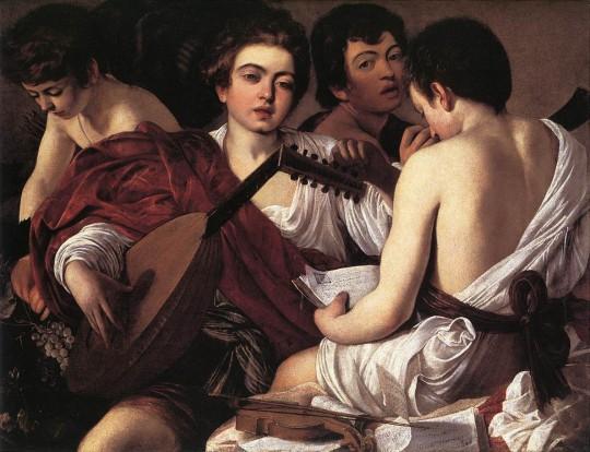 Caravaggio: 'Los músicos'. Metropolitan Museum of Art, New York