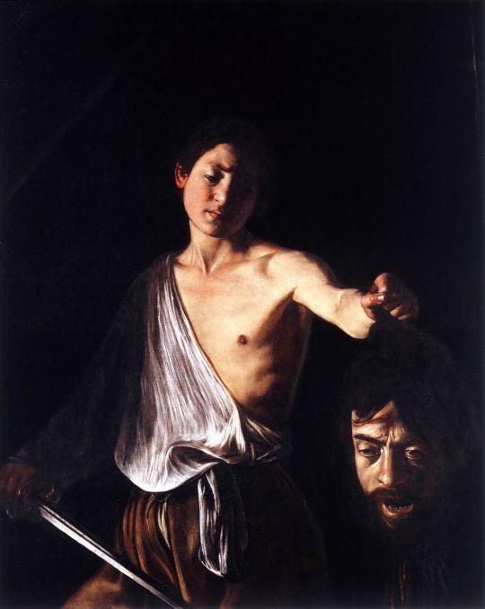 Caravaggio: 'David con la cabeza de Goliat'. Galleria Borghese, Roma