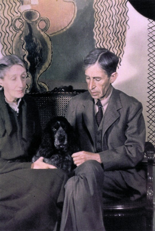 Leonard y Virginia Woolf retratados por Gisèle Freund