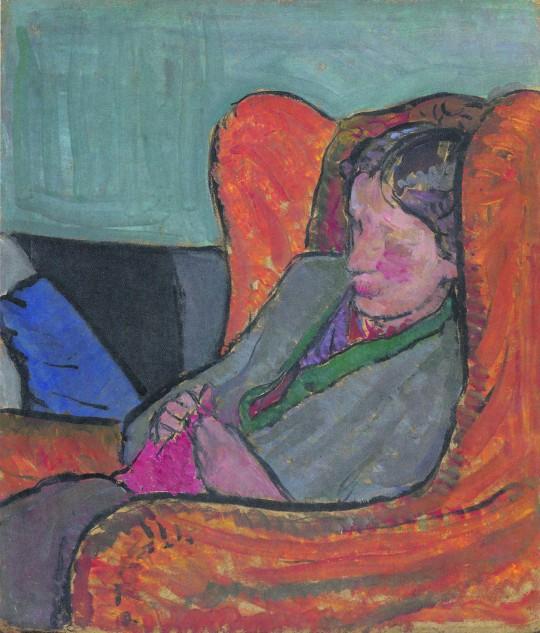 'Virginia en una butaca', retrato de Vanessa Bell (1912)