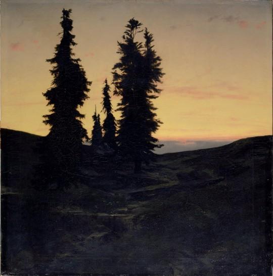 Arnold Böcklin 'Abetos' 1849