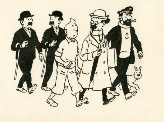 Belgian Fine Comic Strip Gallery_Hergé