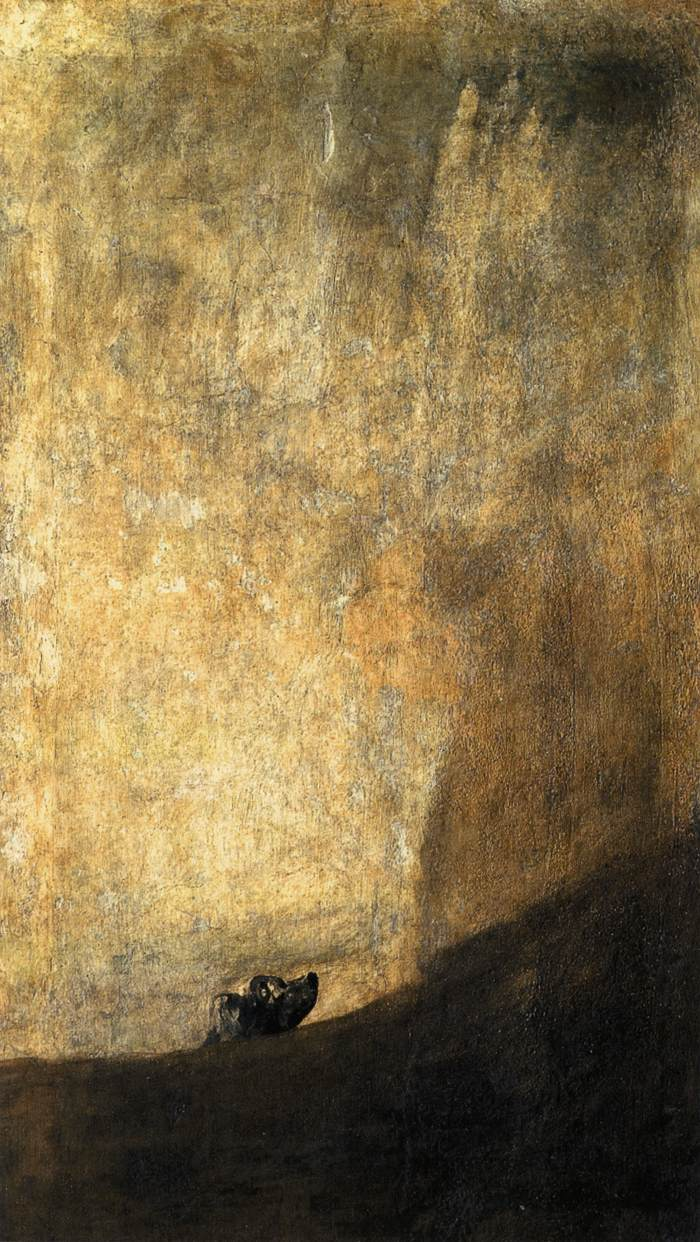 Goya Perro Semihundido