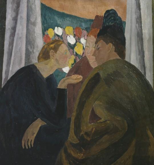 'La Conversación', óleo sobre lienzo de Vanessa Bell