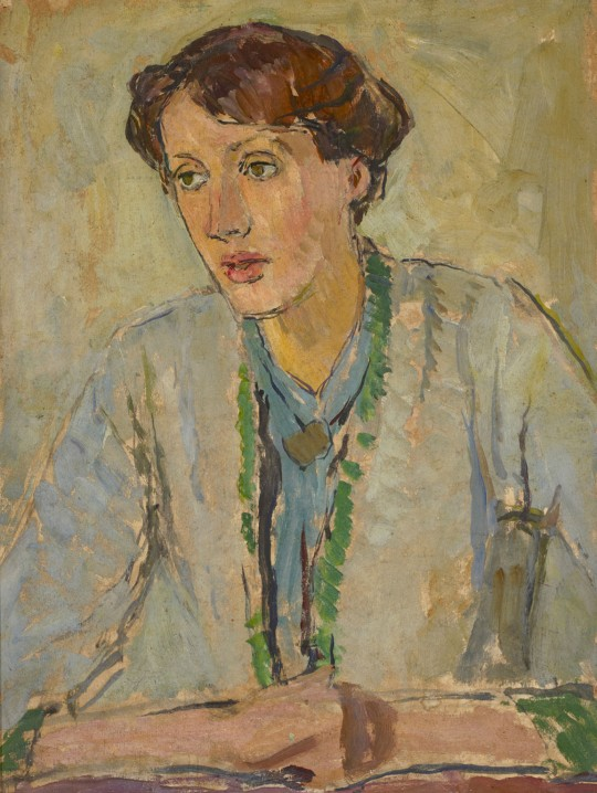 Retrato de Virginia Woolf pintado por su hermana Vanessa Bell en 1912