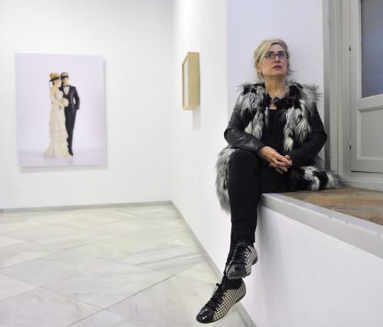 Carmen Calvo en la galería Rafael Ortiz @Juan Carlos Vázquez