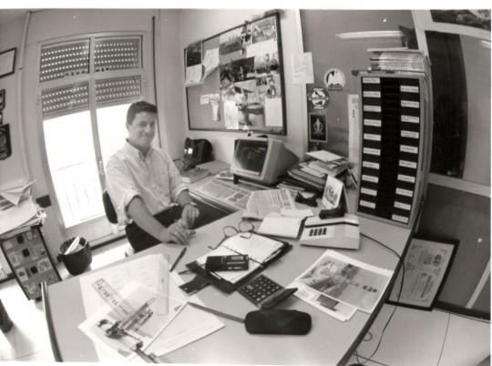 En mi puesto en la redacción de la calle Ceballos, en mayo de 1993