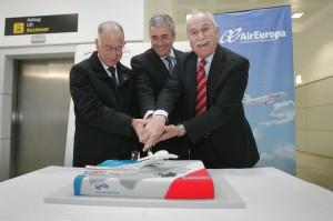 RG170214- BAUTISMO PRIMER VUELO MADRID-ALMERIA DE AIR EUROPA - AVION AEROPUERTO