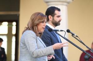 RG250117- REUNION SUSANA DIAZ Y RAMON FERNANDEZ PACHECO - PRESIDENTA JUNTA ANDALUCIA Y ALCALDE ALMERIA