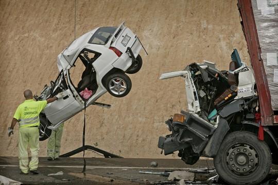 ACCIDENTE EN CADENA EN AUTOVIA DE ALMERIA