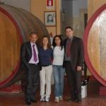 Visita a bodega de la zona con Giuseppe y Vincenso, enólogos y compañeros de cata