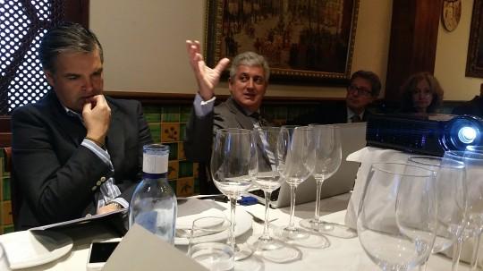 Enrique Valero director general Abadía Retuerta y Alvaro Merino de distribuciones Merino