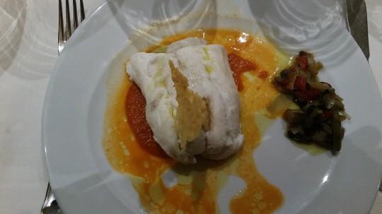 Merluza con crema de Verduras de Becerrita