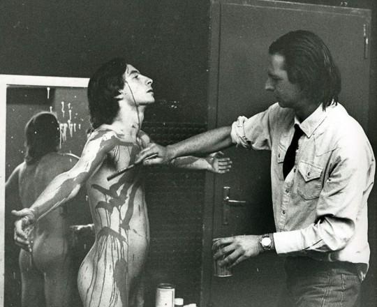 Amat, en pleno delirio creativo para 'El Público' (1986).