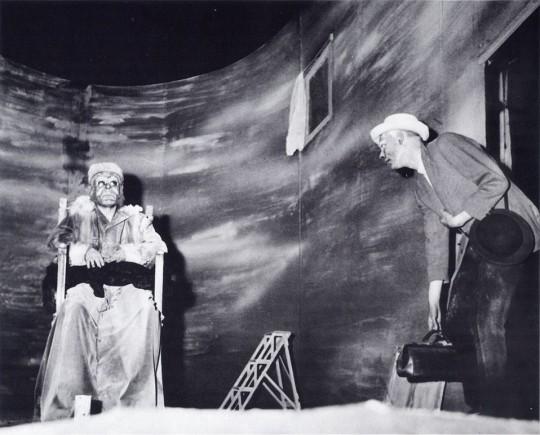 'Fin de partida' de Beckett, en el montaje dirigido por Roger Blin en 1957.