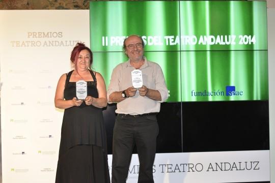 Gloria Zapata y Carlos Góngora, de Axioma: un magisterio para el teatro andaluz.