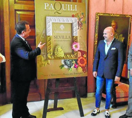 Ayuntamiento de Sevilla  Presentación de la Exposición de bordados de Paquili