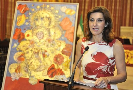 Presentación del nuevo cartel anunciador de la Romería de la Virgen del Rocío de la Hermandad Matriz de Almonte, obra de Cristina Ybarra Saiz de la Maza