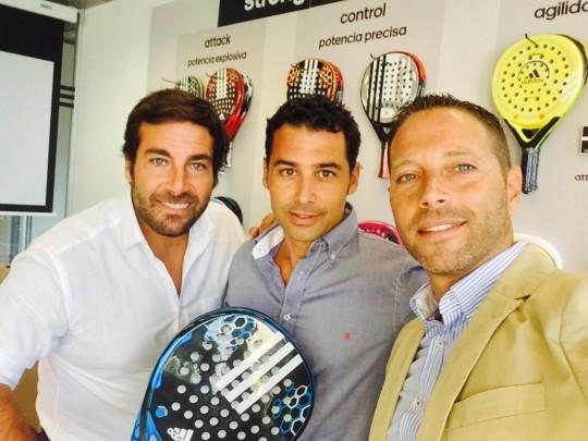 Los tres socios de padelmanager.com, Javier Aguilar, Guillermo Moreno y Francisco Carrillo