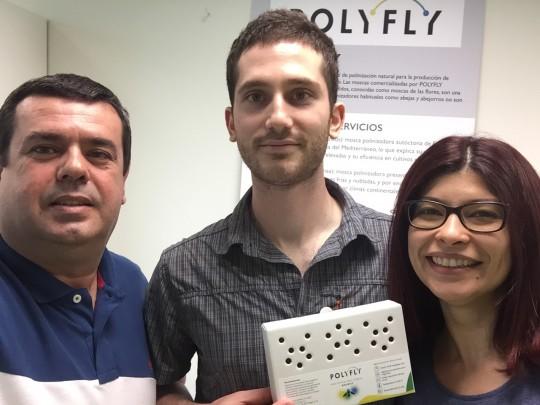 Fernando López, Marc Vaez-Olivera y Yelitza Velásquez, impulsores de Polyfly