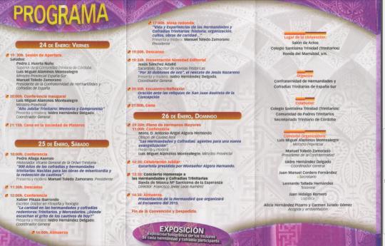 Programa Congreso Trinitario