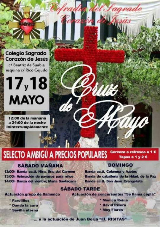 Cartel Cruz Mayo Corazón de Jesús; Sevilla