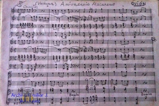 Guíon manuscrito Aniv macareno