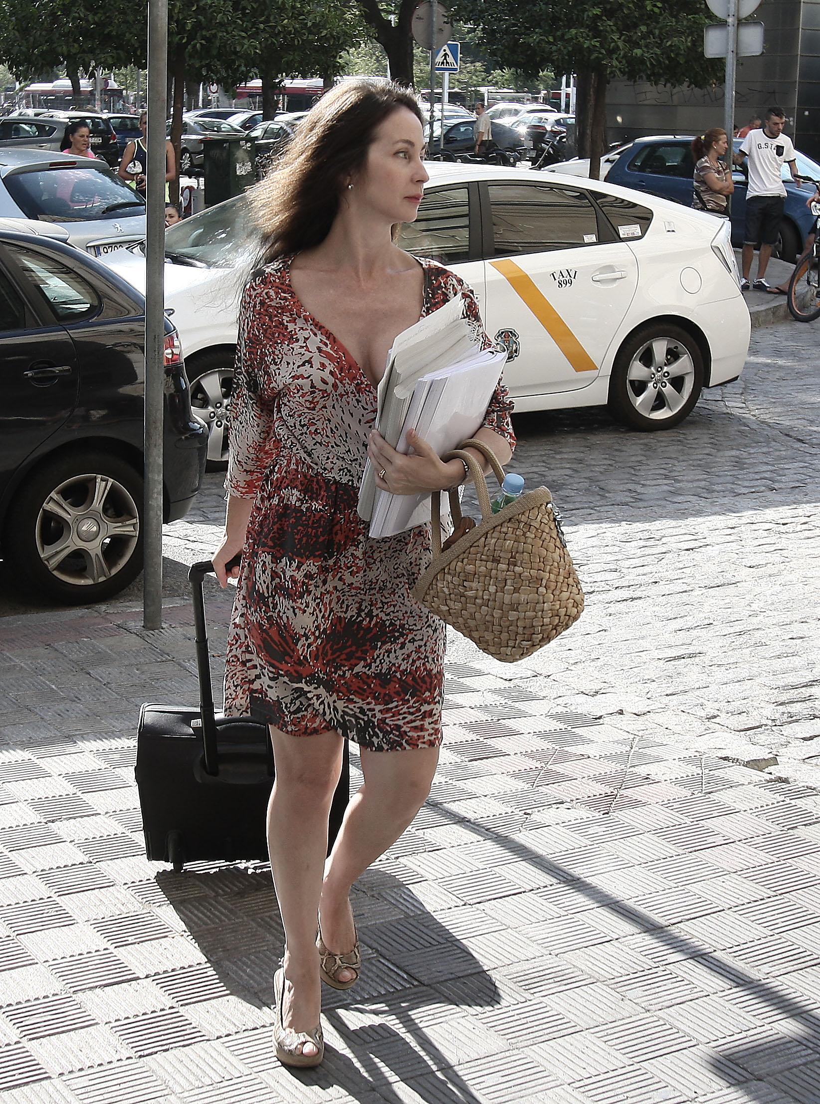 La juez Mercedes Alaya, en los juzgados de Sevilla