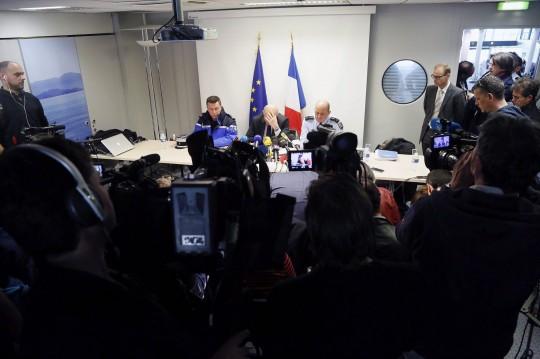 El fiscal Brice Robin de Marsella, en una rueda de prensa informando del curso de las investigaciones de la tragedia de Germanwings.