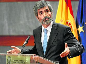 El presidente del CGPJ y del Supremo, Carlos Lesmes