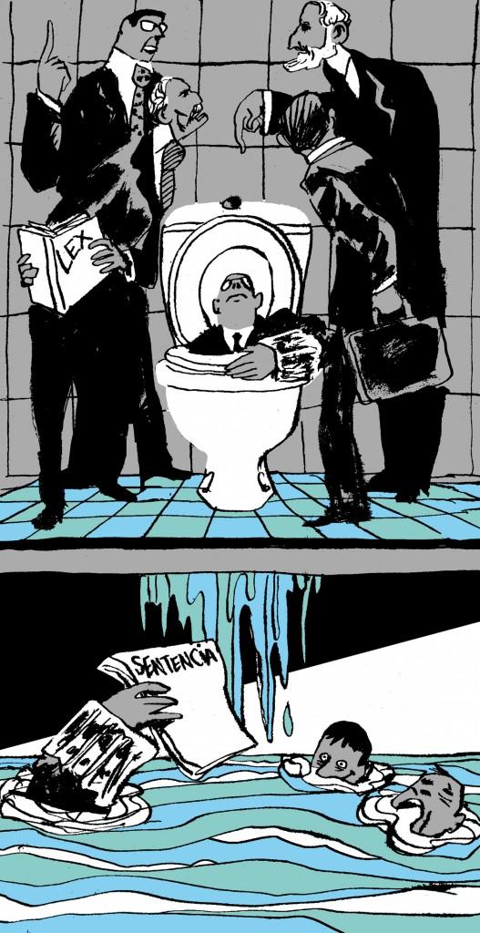 El pleito del inodoro