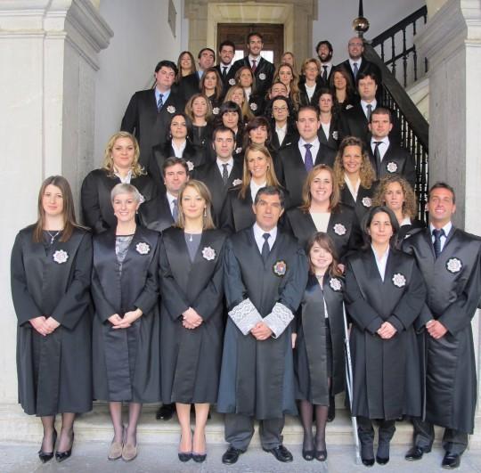 Una jura de jueces en el Tribunal Superior de Justicia de Andalucía.