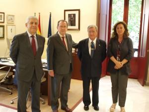 De Llera, con Moreno Andrade y Damián Álvarez, el pasado 23 de mayo en la sede de la Consejería de Justicia.