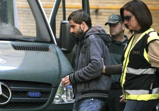 El asesino confeso de Marta, Miguel Carcaño, en Zaragoza