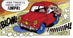 Uno de los coches que utilizan los agentes de la TIA (Técnicos de Investigación Aeroterráquea) creada por el maestro Francisco Ibáñez.