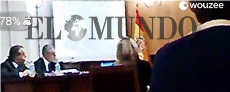Fotografía de la infanta prestando declaración publicada por el diario El Mundo