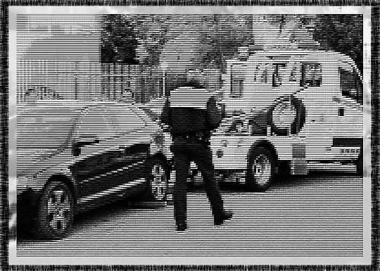 la grua municipal retira un vehiculo mal aparcado en presencia de la policía local