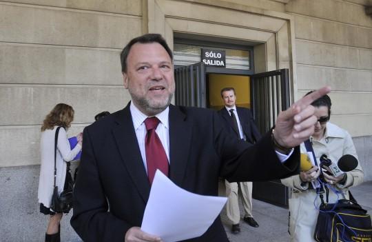 Monteseirín, el 28 de marzo de 2011 cuando declaró como testigo por Sevilla Global.