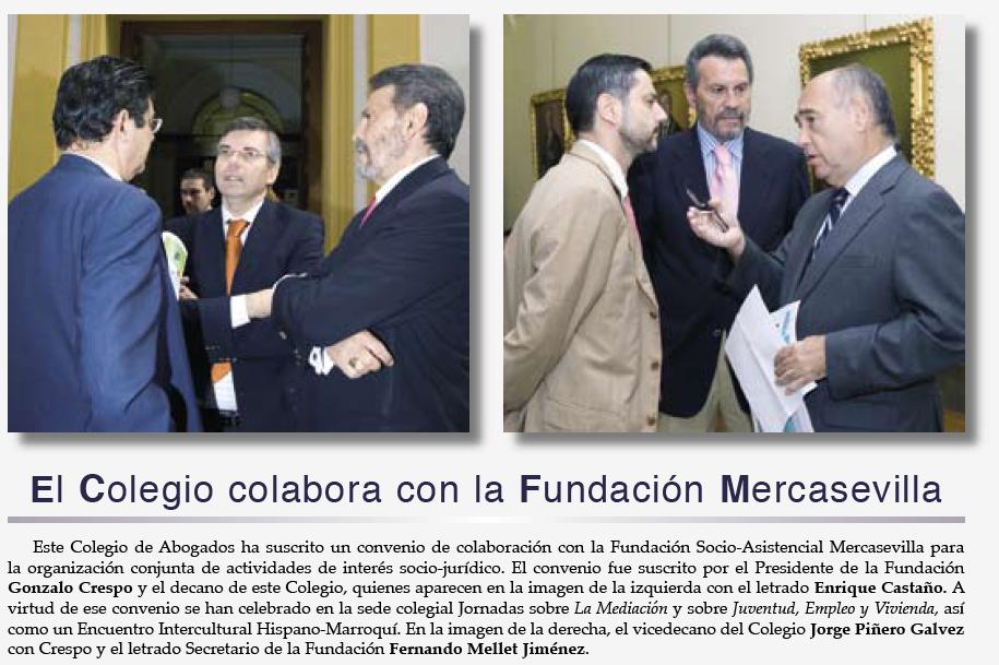 Las fotografías publicadas en la revista del colegio de abogados en 2006