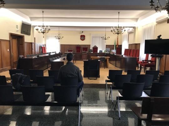 La sala donde se celebrará el juicio de los ERE a los ex presidentes de la Junta Chaves y Griñán.